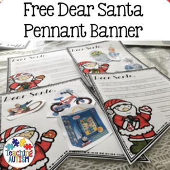 Free Dear Santa Pennant Banner