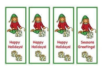 Free December Bookmarks