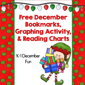 Free December Bookmarks, Reading Charts, and Graphing
