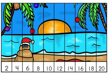 Free December Christmas Math Center First Grade