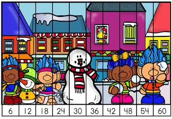 Free December Christmas Math Center Second Grade