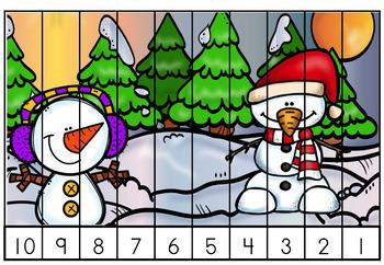 Free December Christmas Math Centers Kindergarten