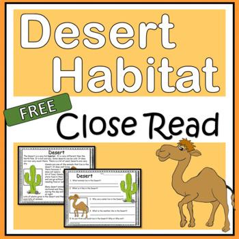 Close Reading Passages Habitats Worksheets Teaching
