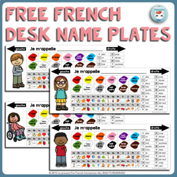 FRENCH Desk Name Plates