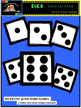 Clipart : Free Dice {Sweet Line Design Clipart}