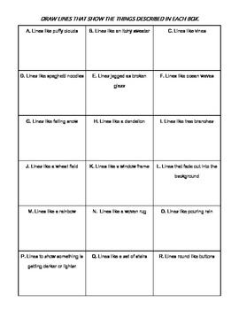 Free -- Different Kinds of Line Worksheet Freebie