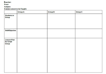 Free Differentiation Planner for Teachers