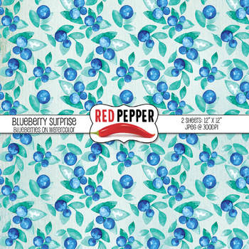 Free Digital Background Paper - Blueberry Surprise