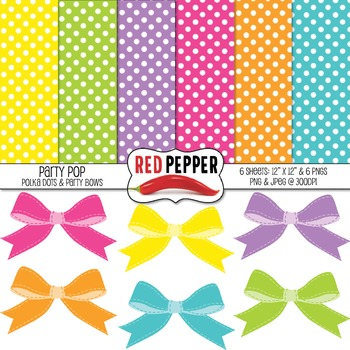 Free Digital Background Paper & Clipart - Party Pop