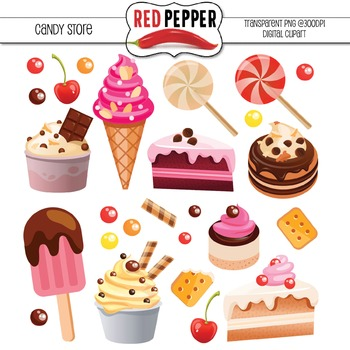 Free Digital Clipart - Candy Store