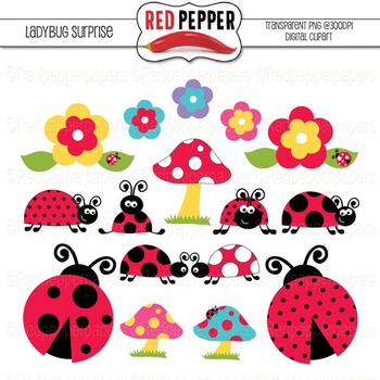 Free Digital Clipart - Ladybug Surprise