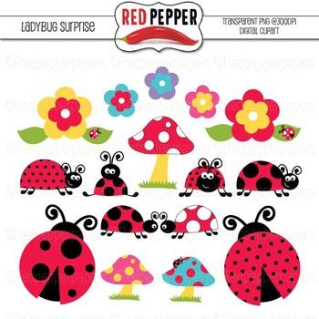 Free Digital Clipart - Ladybug Surprise