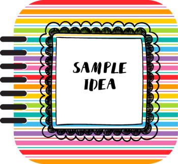 Free Digital Clipart - Rainbow Flipcard Covers