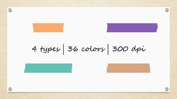 Digital Embellishment | Washi Tape | Rainbow Set