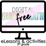Free Digital Guided Math for Distance Learning Third Grade