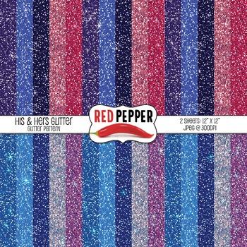 Free Digital Paper - His & Hers Glitter