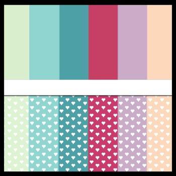 Free | Digital Paper #02 | Colors of Love