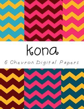 Free Digital Paper Set: Kona {6 Chevron Papers}