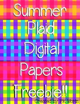 Free Digital Papers - Summer Plaids