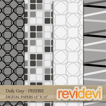Free Digital Papers for Patterned Background - Daily Grey