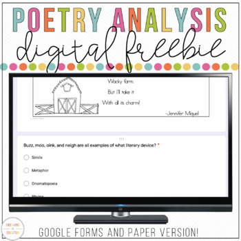 Free Digital Poetry Analysis   Distance Learning