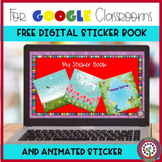 Free Digital Sticker Book for Google Classroom Distance Learning