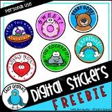 Free Digital Stickers Clip Art - Chirp Graphics