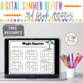 Free Digital Third Grade Review Summer Packet