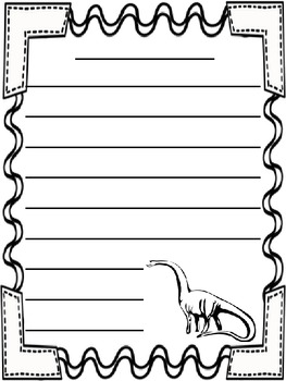 dinosaur themed writing paper by herding kats in kindergarten dinosaur themed writing paper