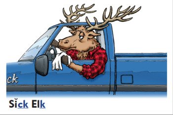 """Silver Moon Spelling Rules Lesson #3: """"Sick Elk"""" Spelling CK and K at the End"""