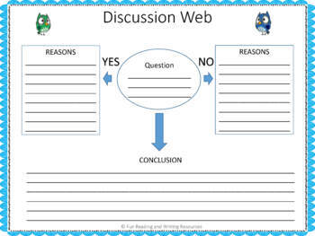 Free Discussion Web Graphic Organizer