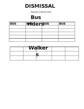Free Dismissal List