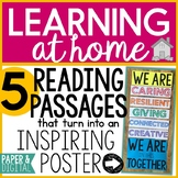 Free Distance Learning Reading Passages and Motivational Poster