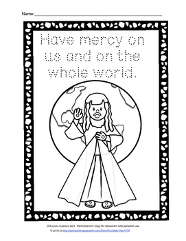 Free Divine Mercy Printable from Charlotte's Clips