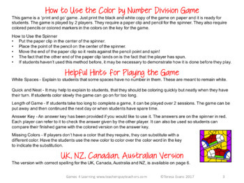 Free Division Color by Number Game