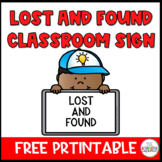 Free  Lost and Found Sign