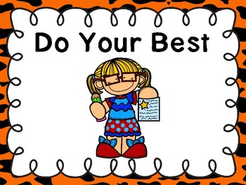 Free Do Your Best Poster