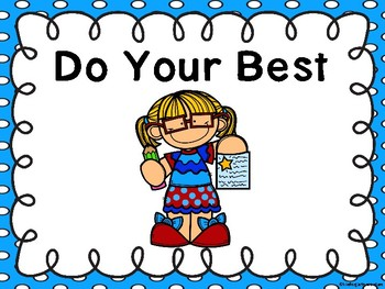Free Do Your Best Poster - Polka Dot