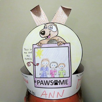 Free Dog Theme  Back to School Craft - About Me Hat