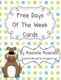 *Free* Dog Theme Days of the Week Poster Set