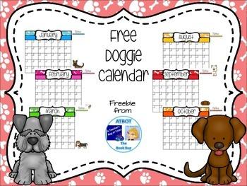 Free Doggie Themed Calendar