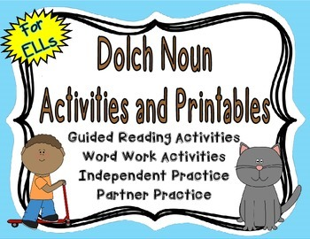 {Free} Dolch Noun Activities and Printables for English Language Learners