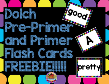 Free! Dolch Pre-Primer and Primer Sight Words