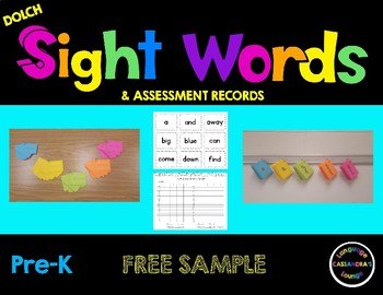 Free Dolch Sight Words - Pre-K