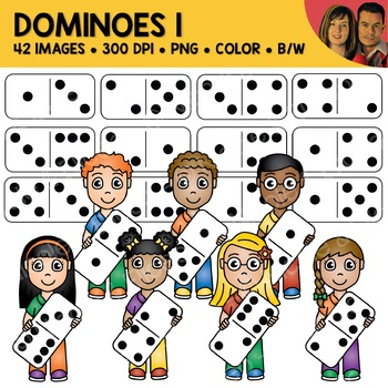 Math Clipart - Dominoes 1