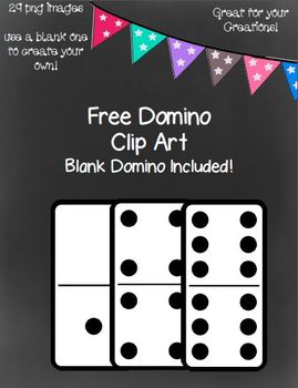 Free Dominos Clip Art With A Blank Domino~ 29 png images