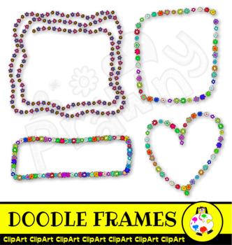 Free Doodle Floral Frame Decorations