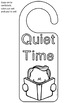 Free Freebie Door Hangers Study Reading Book Quiet Bible Time Door Hangers