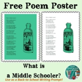 Free Download -  Beginning of the Year Middle School Poster Poem