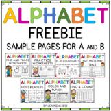 Alphabet Worksheets-Letter Worksheets Freebie (ABC)